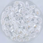 miyuki long magatama 4x7 mm - ceylon white pearl