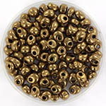 miyuki magatama 4 mm - metallic dark bronze