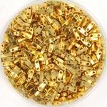 miyuki quarter tila 5x1.2 mm - 24kt gold plated