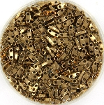 miyuki quarter tila 5x1.2 mm - metallic dark bronze
