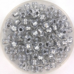 miyuki rocailles 6/0 - sparkling pewter lined crystal