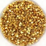 miyuki seed beads 11/0 2cut - 24kt gold plated