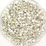 miyuki seed beads 11/0 2cut - bright sterling plated