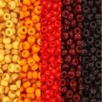 miyuki seed beads 11/0 - red sun