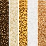 miyuki seed beads 11/0 - soft beige