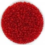 miyuki rocailles 11/0 - transparant matte ruby
