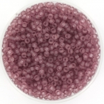 miyuki rocailles 11/0 - transparant matte smoky amethyst