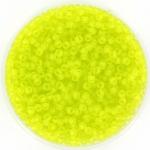 miyuki rocailles 11/0 - transparant matte chartreuse