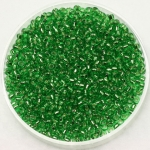 miyuki seed beads 11/0 - silverlined light green
