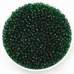 miyuki rocailles 11/0 - transparant dark emerald