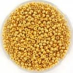 miyuki seed beads 11/0 - 24kt gold plated