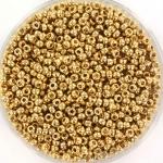 miyuki rocailles 11/0 - 24kt gold light plated
