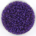 miyuki seed beads 11/0 - semi frosted dark lilac lined light amethyst