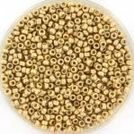 miyuki seed beads 11/0 - matte 24kt gold light plated