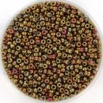 miyuki seed beads 11/0 - metallic iris batik gold