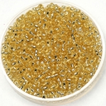 miyuki seed beads 11/0 - silverlined light gold