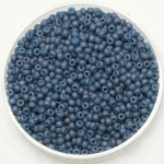 miyuki seed beads 11/0 - opaque matte luster light denim