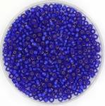miyuki rocailles 11/0 - silverlined matte cobalt