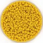 miyuki seed beads 11/0 - opaque matte canary