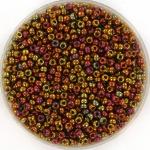 miyuki seed beads 11/0 - transparant iris tea berry gold