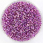 miyuki rocailles 11/0 - raspberry lined ab crystal