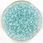 miyuki seed beads 11/0 - fancy lined soft aqua