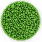 miyuki seed beads 11/0 - opaque green