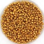 miyuki seed beads 11/0 - duracoat galvanized yellow gold