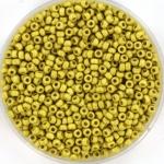 miyuki seed beads 11/0 - duracoat galvanized matte zest