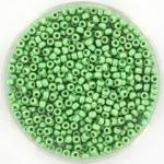 miyuki seed beads 11/0 - duracoat galvanized matte dark mint green