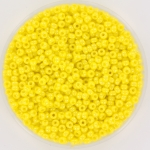 miyuki rocailles 11/0 - opaque luster yellow