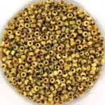 miyuki rocailles 11/0 - opaque picasso yellow