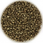 miyuki seed beads 11/0 - opaque picasso brown