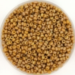 miyuki seed beads 11/0 - opaque matte ab glazed honey bee
