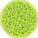 miyuki rocailles 11/0 - opaque ab chartreuse