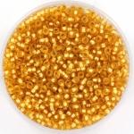 miyuki seed beads 11/0 - silverlined matte dark gold