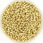 miyuki seed beads 11/0 - duracoat galvanized pale gold