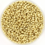 miyuki rocailles 11/0 - duracoat galvanized pale gold