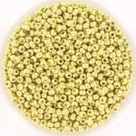 miyuki rocailles 11/0 - duracoat galvanized pale soft gold