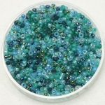 miyuki seed beads 11/0 - mix touch of teal