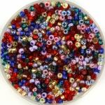 miyuki seed beads 11/0 - mix rainbow