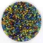 miyuki rocailles 11/0 - mix galatic blue gold