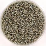 miyuki seed beads 15/0 - opaque luster smoke gray