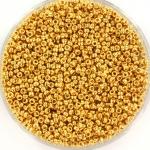 miyuki seed beads 15/0 - 24kt gold plated