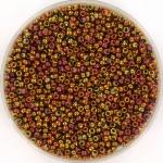 miyuki rocailles 15/0 - transparant iris tea berry gold