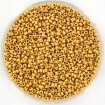 miyuki seed beads 15/0 - duracoat galvanized matte gold