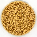miyuki rocailles 15/0 - duracoat galvanized matte gold