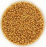 miyuki rocailles 15/0 - duracoat galvanized yellow gold