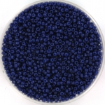 miyuki seed beads 15/0 - duracoat opaque dyed navy blue