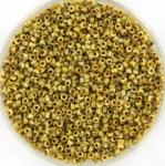miyuki seed beads 15/0 - opaque picasso yellow